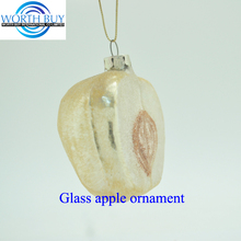 Hanging apple blown murano glass fruit Christmas ornamen from Shenzhen supplier