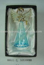 Small glass angel in gift box
