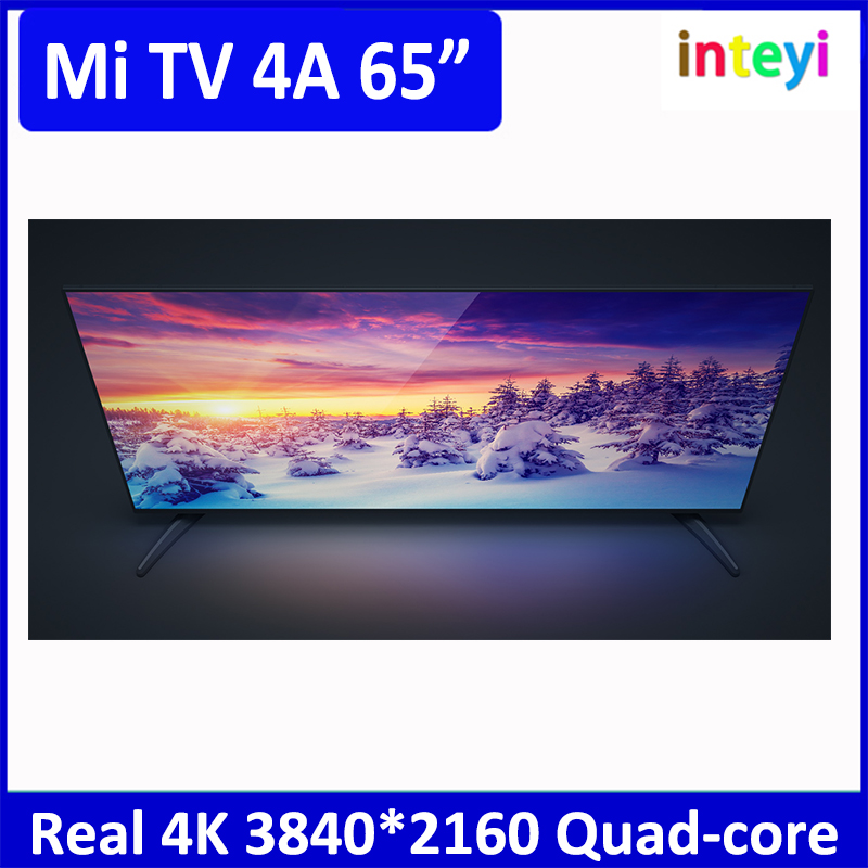 "Lattest Xiaomi mi TV 4A Xiaomi TV 65"" xiaomi 4K 3840*2160 65"" Smart TV Intelligent Voice HD Screen Ultra Quad Core"