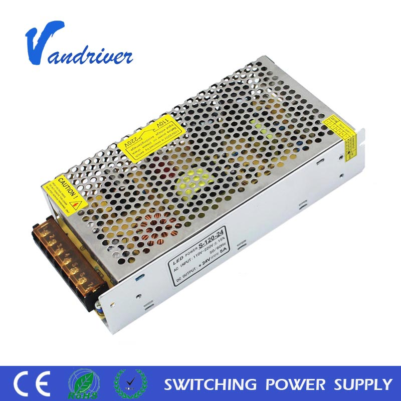 China Factory S-120-24 220V AC 24V DC 120W 5A CCTV Camera Electrical Equipment LED Switching Power <strong>Supply</strong>