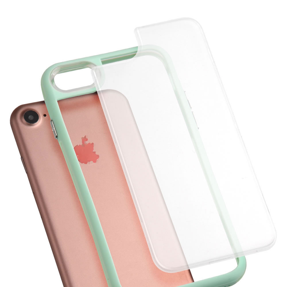 C&T Interchangeable Back Plate Slim Clear TPU bumper case for Apple Iphone 6s