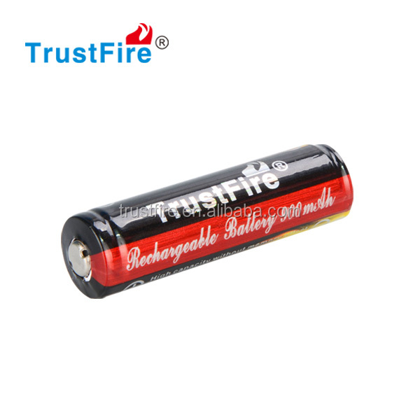 Trustfire smallest Keep Power protected 14500 3.7v 900mah Rechargeable aa cell battery