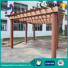 Decorative Material less warping wpc garden pavilion