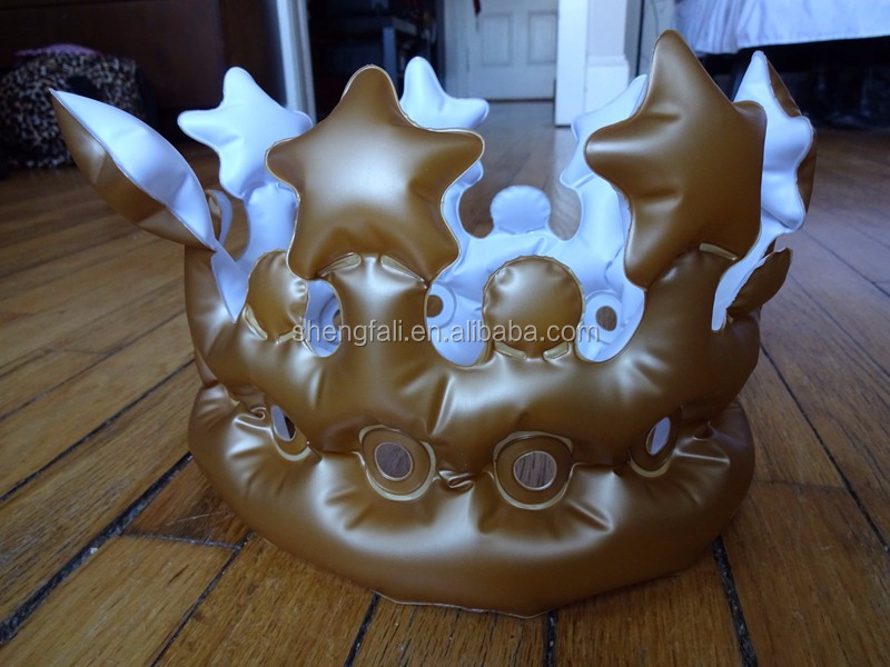 Factory Funny Party Blow Up Hat Toys Inflatable Royal Pvc Crown ...