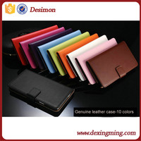 Genuine leather book style iphone6 wallet cases and covers with belt clip