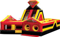 Double rush inflatable obstacle course,inflatable games,obstacle inflatable W5028