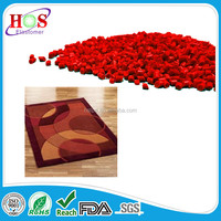 Free Sample Factory price area rug back coating material rubber TPE comound