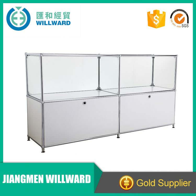 Wholesale cheap price mall cell phone accessories kiosk glass cabinet