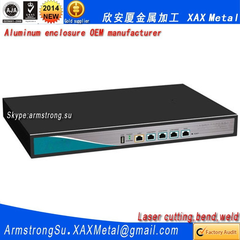 XAX27Alu OEM ODM customized laser cut bend weld plate aluminum network switch case