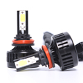New car led headlight H4 H7 32W 8000LM 3 sides COB LED auto led headlight bulb 9007