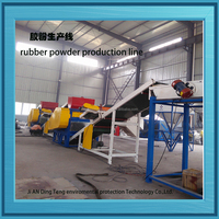 recycle waste OTR tyres crumb rubber grinding machine