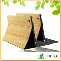 2016 new arrival natural bamboo wooden flip case for iPad mini 4 with stand function, for ipad mini 4 case bamboo