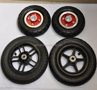 8 inch 10 inch alloy/plastic small pneumatic rubber wheel