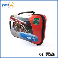 2016Hot Sales Type YY-045 Car Accident First Aid Kit For Travel, Hiking and Sports
