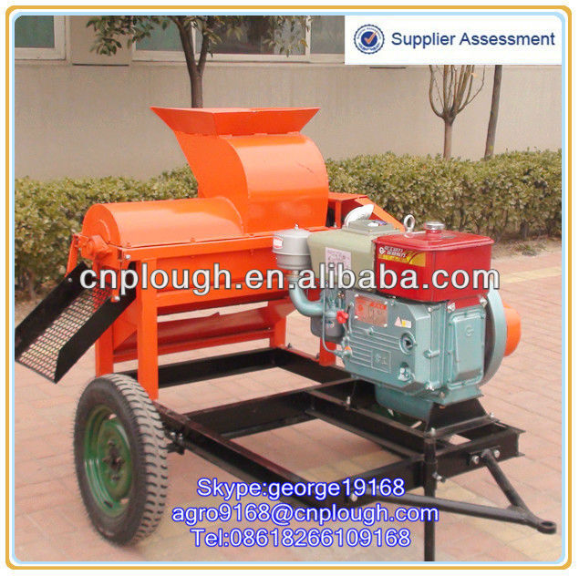 Agricultural machinery corn thresher with diesel engine