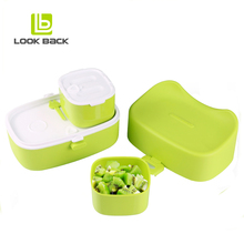 2018 new arrivals kitchen plastic custom stackable baby lunch box