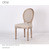 RCH-4007 Customized Wood Louis Chair Stacking Ghost Chair