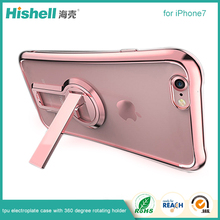 TPU Electroplate Phone Case with 360 Degree Rotating Holder for iphone7