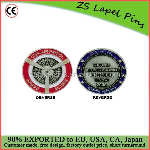 High quality cheap price two sided solid Custom Metal Challenge Coins