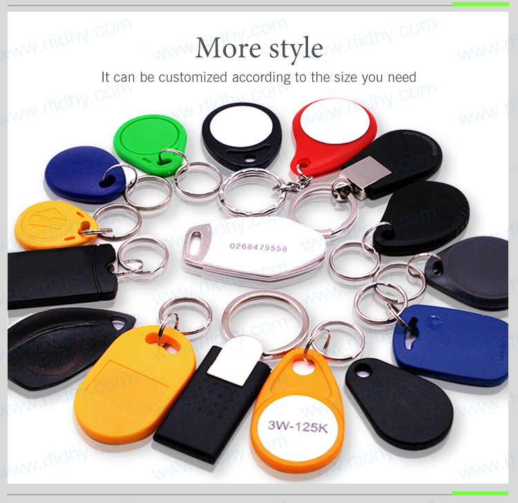 13.56MHz MIFARE Classic 1k ABS RFID key fob Key chain Tag for door access