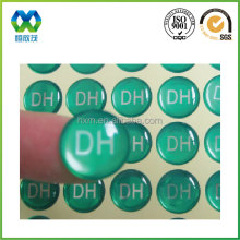 1.5cm diameter dome sticker green round epoxy sticker dot sticker 3d