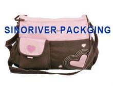 high quality ployster fashion nice mommy cute diaper baby bags