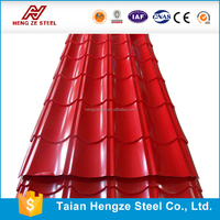 Prepainted Red blue Color Coated Corrugated Steel Roofing Sheets/indonesia stone coated roof tile