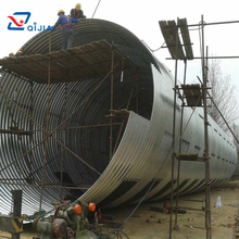 CE certificate round large diameter galvanized corrugated steel pipe culvert / large diameter corrugated drainage pipe