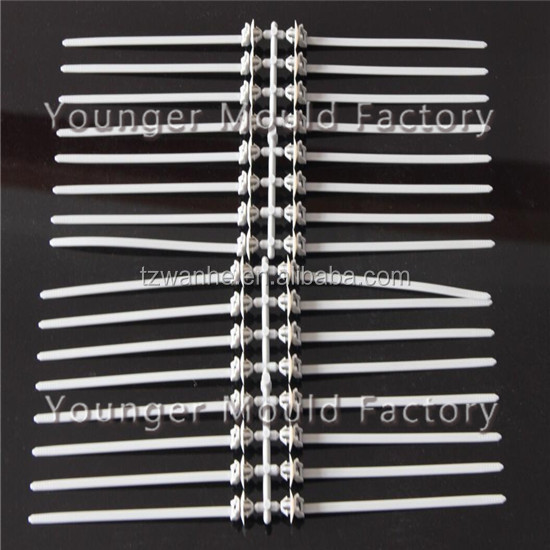 Self locking nylon zip cable tie mould mold used for cars auto automobile parts accessories component in molds city china