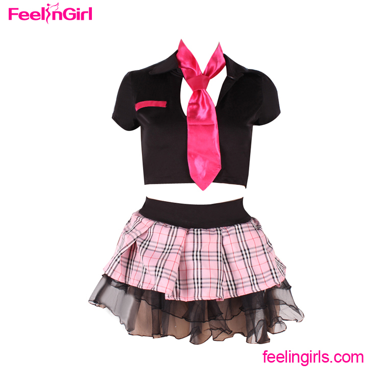 OEM Services 2 Pcs Student Uniform Sexy School Girl Costume Photos