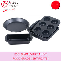 with free samples non stick cake molds metal in white box pack