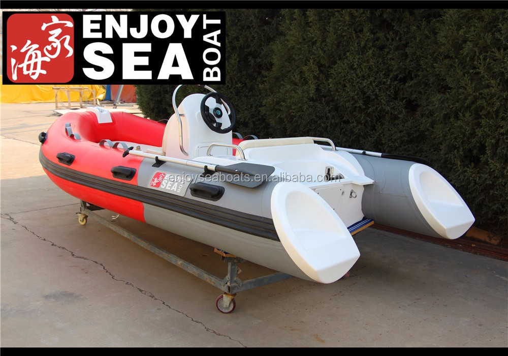 China rib boat 300 inflatable small fiberglass boat for for Inflatable fishing boats for sale