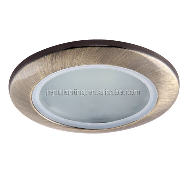popular fashion recessed IP44 GU10 bronze iron led bathroom spotlight with frosted glass
