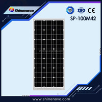 High efficiency 100W 18v Mono crystalline solar panel with CE/ TUV certification