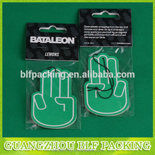 (BLF-AR004) funny car paper air freshener for OEM ODM custom printing