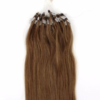 6A Grade Fashion Keratin Fusion Loop Tip Hair, 100% Cheap Indian Remy Micro Loop Ring Human Hair extension