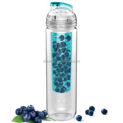 bpa free new tritan water fruit infuser bottle private label bottle fruit jam sterilizing
