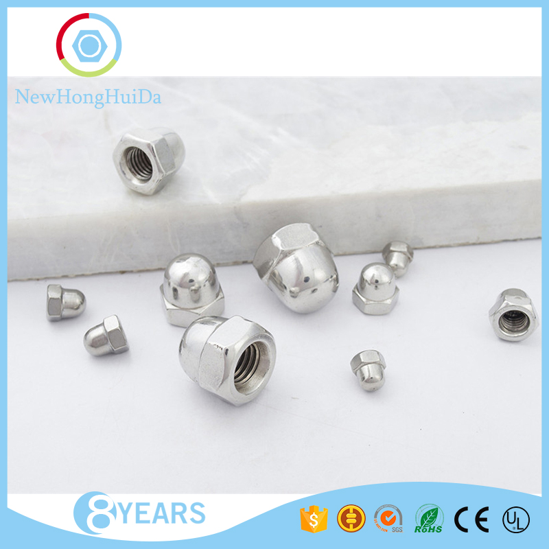 Factory wholesale <strong>M10</strong> sizes stainless steel <strong>hex</strong> head dome shape <strong>nut</strong>