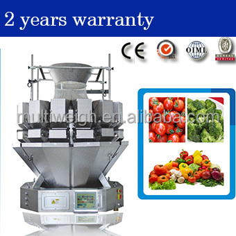 14 head multihead salad weigher for olive, Cherry, haw, weighing/fruit weighing machine