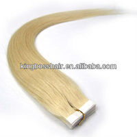 28 Inch Remy Tape Hair Human Hair Extensions#613 - Light Blonde 40 Pieces 100g/sett Straight Women Beauty Salon Style Design