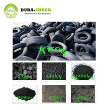 Dura-Shred waste tire recycling machine