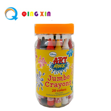 hot selling hexagonal oil pastel wax crayon for children