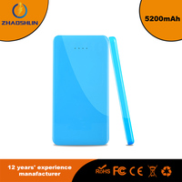 Colorful 5200mAh Universal Power Bank Backup External Battery Pack Portable USB Charger - Blue