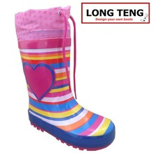 Custom Fashion Colorful Wellies Girls Sex Rubber Rain Boot