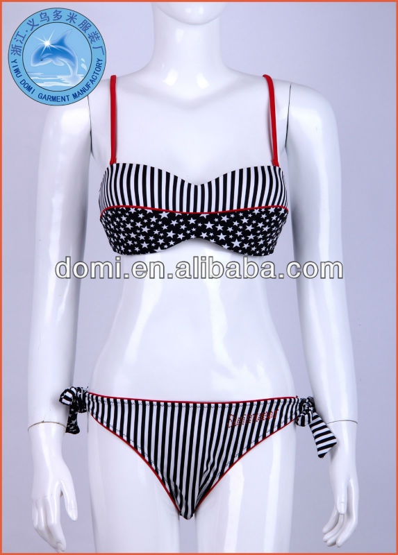 2014 Newest Butterfly Top Bikini With Stripe and Star American Flag Bikini Sexy Girls Bikini For Mature Women
