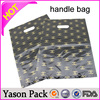 Yason pe die cut handle bag foldover die cut handle bag coated paper handle bags