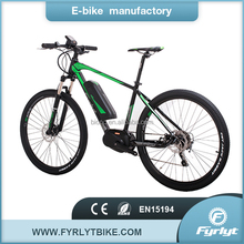 pas electric bicycle 27.5'' ebike 250w 36v center motor pedelec china made bike