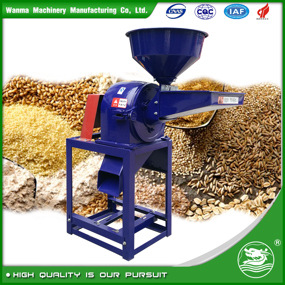 WANMA3523 Full Automatic Grain Pulverizer Cassava Flour Mill Grinder Machine Maize Pepper Grind Mill