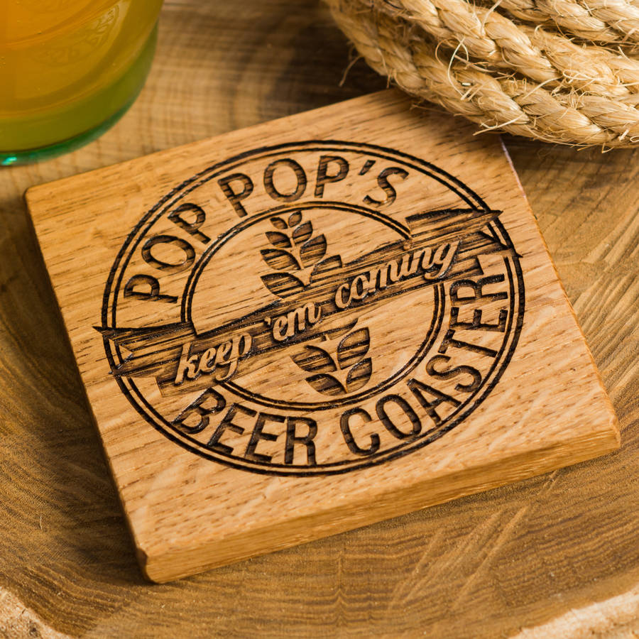 beer coaster wood pallet coaster for Restaurant bar