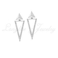 triangle diamond earring cheap custom jewelry